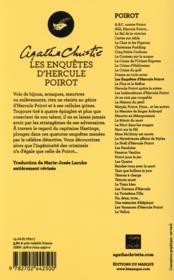 Les enquêtes d'Hercule Poirot - 4ème de couverture - Format classique