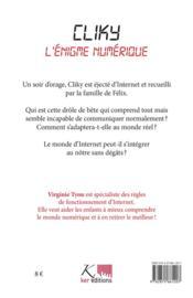 Cliky ; l'énigme numérique - 4ème de couverture - Format classique