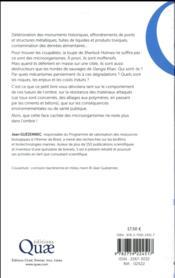Biodégradation des matériaux - 4ème de couverture - Format classique