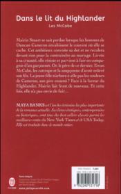 Les McCabe t.1 ; dans le lit du highlander - 4ème de couverture - Format classique