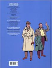 Blake et Mortimer T.20 ; la malédiction des trente deniers t.2 - 4ème de couverture - Format classique