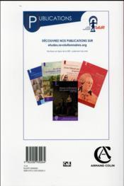 Annales historiques de la révolution française N.384 ; avril/juin 2015 - 4ème de couverture - Format classique