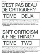 C'est pas beau de critiquer ? t.2 - Couverture - Format classique
