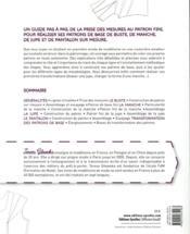 Les patrons de base sur mesure ; construction et ajustement - 4ème de couverture - Format classique