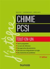 Chimie tout-en-un PCSI (5e édition) - Couverture - Format classique