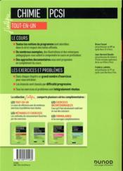 Chimie tout-en-un PCSI (5e édition) - 4ème de couverture - Format classique