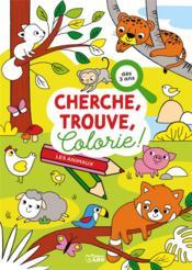Cherche, trouve, colorie ! ; les animaux - Couverture - Format classique