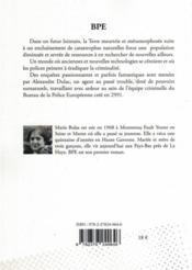 Bpe - 4ème de couverture - Format classique