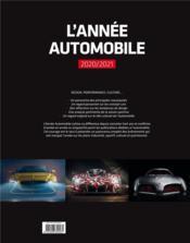 L'ANNEE AUTOMOBILE T.68 (édition 2020/2021) - 4ème de couverture - Format classique