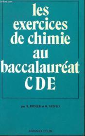 Exos De Chimie Bac Cde - Couverture - Format classique