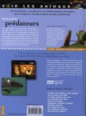 Redoutables prédateurs - 4ème de couverture - Format classique