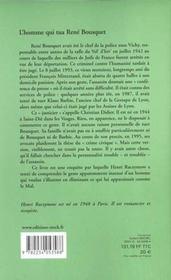L'Homme Qui Tua Rene Bousquet - 4ème de couverture - Format classique