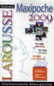 Dictionnaire Larousse maxipoche (édition 2009) - Intérieur - Format classique