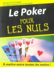 Le poker pour les nuls - Couverture - Format classique