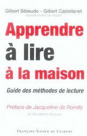Apprendre a lire a la maison - Intérieur - Format classique