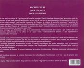 L'Architecture Des Dieux Et Des Hommes - 4ème de couverture - Format classique