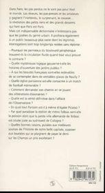 Paris des pas perdus ; dictionnaire minuscule de la capitale - 4ème de couverture - Format classique