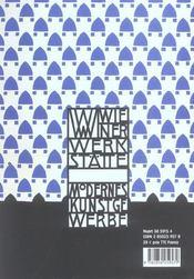 Design des wiener werkstatte. les ateliers viennois 1903-1932 - 4ème de couverture - Format classique