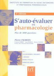 S'Auto-Evaluer En Pharmacologie - Intérieur - Format classique