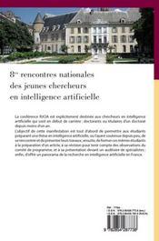 Huitièmes rencontres nationales des jeunes chercheurs en i.a. - 4ème de couverture - Format classique
