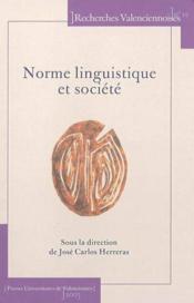 Norme linguistique et societe - Couverture - Format classique