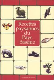 Recettes paysannes du Pays Basque - Couverture - Format classique