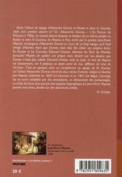 Cahiers dumas t.33 ; le volga et le caucase avec alexandre dumas - 4ème de couverture - Format classique