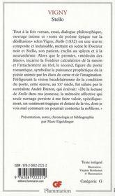 Stello - 4ème de couverture - Format classique