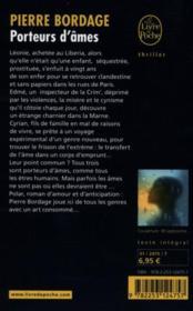 Porteurs d'âmes - 4ème de couverture - Format classique