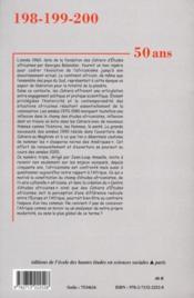 Cahiers d'études africaines N.198 ; t.199 ; t.200 ; que sont nos amours africaines devenues ? - 4ème de couverture - Format classique