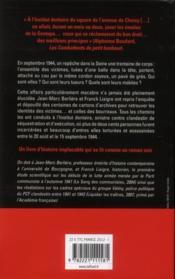 Ainsi finissent les salauds ; séquestrations et exécutions clandestines dans Paris libéré - 4ème de couverture - Format classique