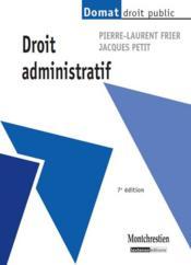 Droit administratif (7e édition) - Couverture - Format classique