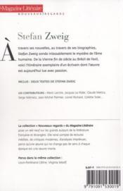 Le Magazine Litteraire ; Stephan Zweig - 4ème de couverture - Format classique