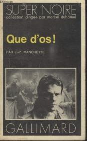 Collection Super Noire N° 51. Que Dos. - Couverture - Format classique