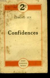 Confidences. - Couverture - Format classique