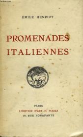 Promenades Italiennes - Couverture - Format classique