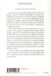 Proust est une fiction - 4ème de couverture - Format classique