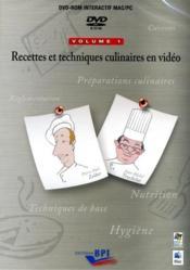 00recettes et techniques culinaires en video 1 - Couverture - Format classique