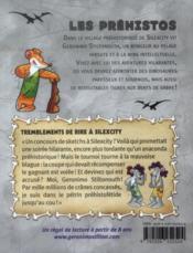 Les préhistos T.5 ; tremblements de rire à Silexcity - 4ème de couverture - Format classique