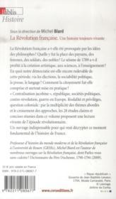 La révolution française ; une histoire toujours vivante - 4ème de couverture - Format classique