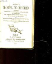 Petit Manuel Du Chretien - Couverture - Format classique