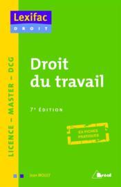Droit du travail (7e édition) - Couverture - Format classique