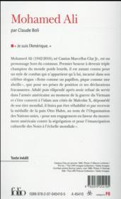 Mohamed Ali - 4ème de couverture - Format classique