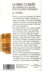 La Bible oubliée ; apocryphes de l'Ancien et du Nouveau Testament - 4ème de couverture - Format classique