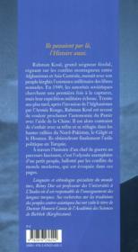 Rahman Koul ; ultime khan du toit du monde - 4ème de couverture - Format classique