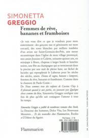 Femmes de rêve, bananes et framboises - 4ème de couverture - Format classique