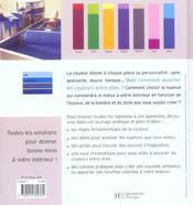 Donner des couleurs a sa maison - 4ème de couverture - Format classique