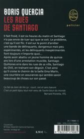 Les rues de Santiago - 4ème de couverture - Format classique