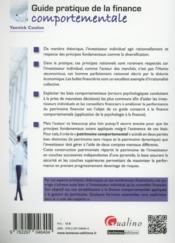 Guide pratique de la finance comportementale - 4ème de couverture - Format classique