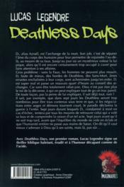 Deathless days - 4ème de couverture - Format classique